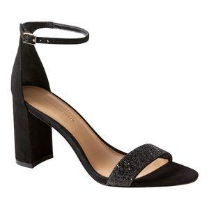 Banana Republic Black Block Heel Sandal Size 7